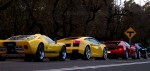 Replica   Bill n Ted: GT40 replica vs Gallardo vs Testarossa