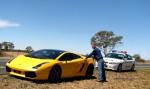 Lamborghini   Melbourne Economy Adventure: mhh getting reamed by the cops