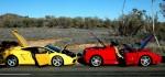 jim501 Photos Exotics in the Outback 2005: Lamborghini Gallardo vs Ferrari 360 Spider doors