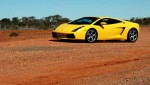 Lamborghini   Exotics in the Outback 2005: Lamborghini Gallardo in the middle of nowhere