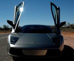 Outback   Exotics in the Outback 2005: Lamborghini Murcielago - doors up