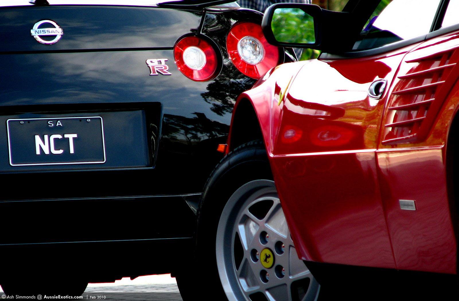 Ferrari Mondial and Nissan R35