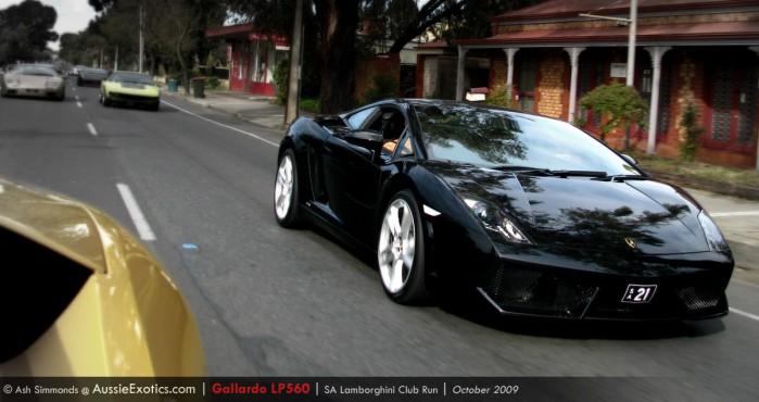 Image: [   21 ] SA Numeric Plate - black Lamborghini Gallardo LP560-4