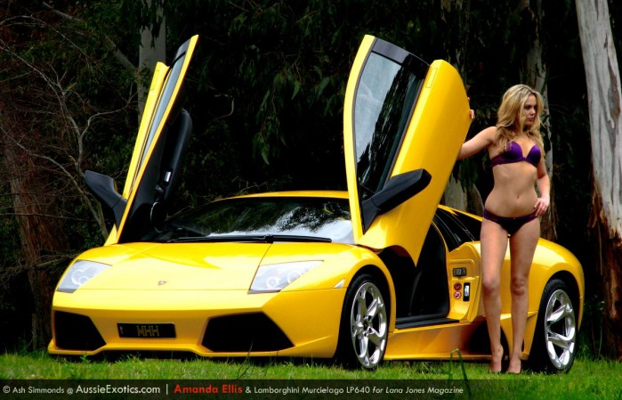 Lamborghini LP640 hot blonde girl Amanda Ellis model Adelaide