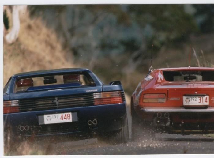 pantera wallpaper. Ferrari Testarossa vs Pantera