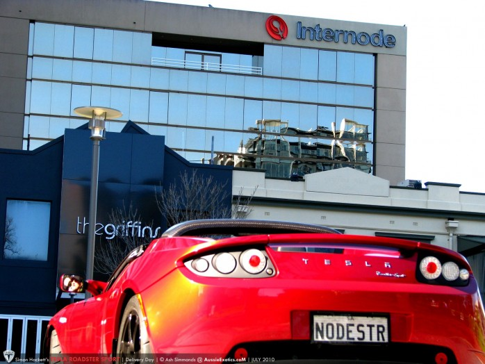 Tesla Roadster Sport at Internode