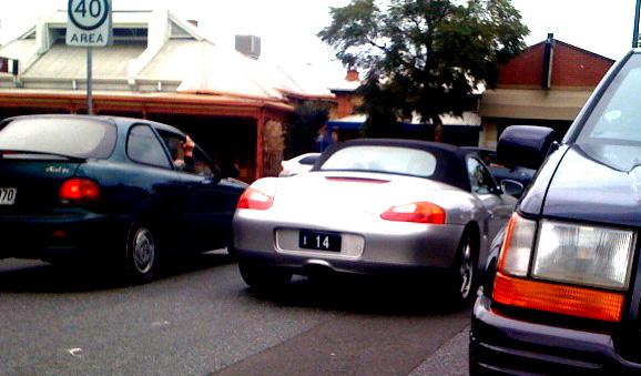 Image: [   14 ] SA Numeric Plate - silver BMW 135i