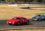 Esprit   Lotus Club 2009 - Winton Trackday: Red Esprit and Silycar