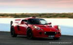 Car   Lotus Exige S - Melbourne to Sydney: Lotus Exige S - red dawn on the dock