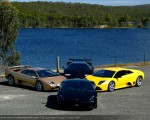 For   Lamborghini Club SA Bull's Run - October 2009: Lamborghini formation