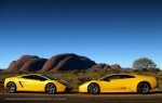 Gallardo   Exotics in the Outback 2007: Lamborghini Murcielago and Gallardo at the Olgas