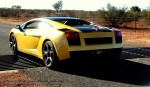 On   Exotics in the Outback 2007:  Lamborghini Gallardo  on cattle grid