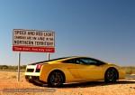 Gallardo   Exotics in the Outback 2007:  Lamborghini Gallardo Speed Sign NT