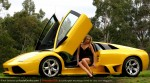 And   Amanda Ellis with Lamborghini Murcielago LP640: Amanda Ellis and Lamborghini Murcielago LP640