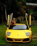 Model   Amanda Ellis with Lamborghini Murcielago LP640: Amanda Ellis and Lamborghini Murcielago LP640