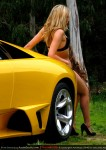 Girl   Amanda Ellis with Lamborghini Murcielago LP640: Amanda Ellis and Lamborghini Murcielago LP640