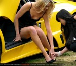 Photos chick Australia Amanda Ellis with Lamborghini Murcielago LP640: Amanda Ellis and Lamborghini Murcielago LP640