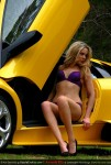Model   Amanda Ellis with Lamborghini Murcielago LP640: Amanda Ellis and Lamborghini Murcielago LP640
