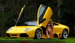 Lamborghini Murcielago LP640 hot girl Amanda Ellis wallpaper