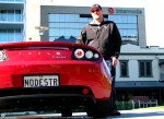 Tesla Roadster Sport - Delivery to Simon Hackett: Simon Hackett with his Tesla Roadster Sport at Internode