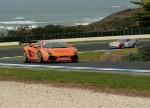 Porsche gt3 Australia Philip Island - August 2007: Gallardo on exit turn 5.