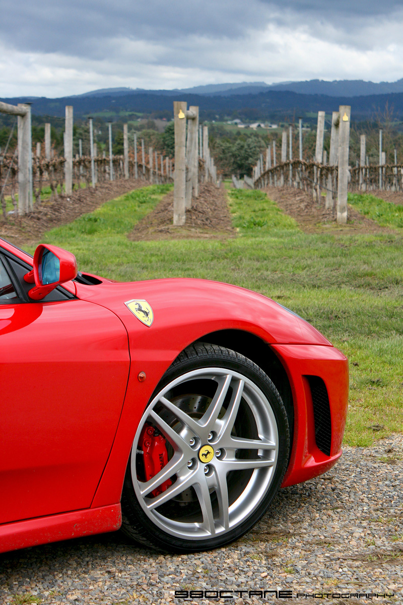 Ferrari F430 Spider - front wheel 2 (Stones, Yarra Valley, Vic,