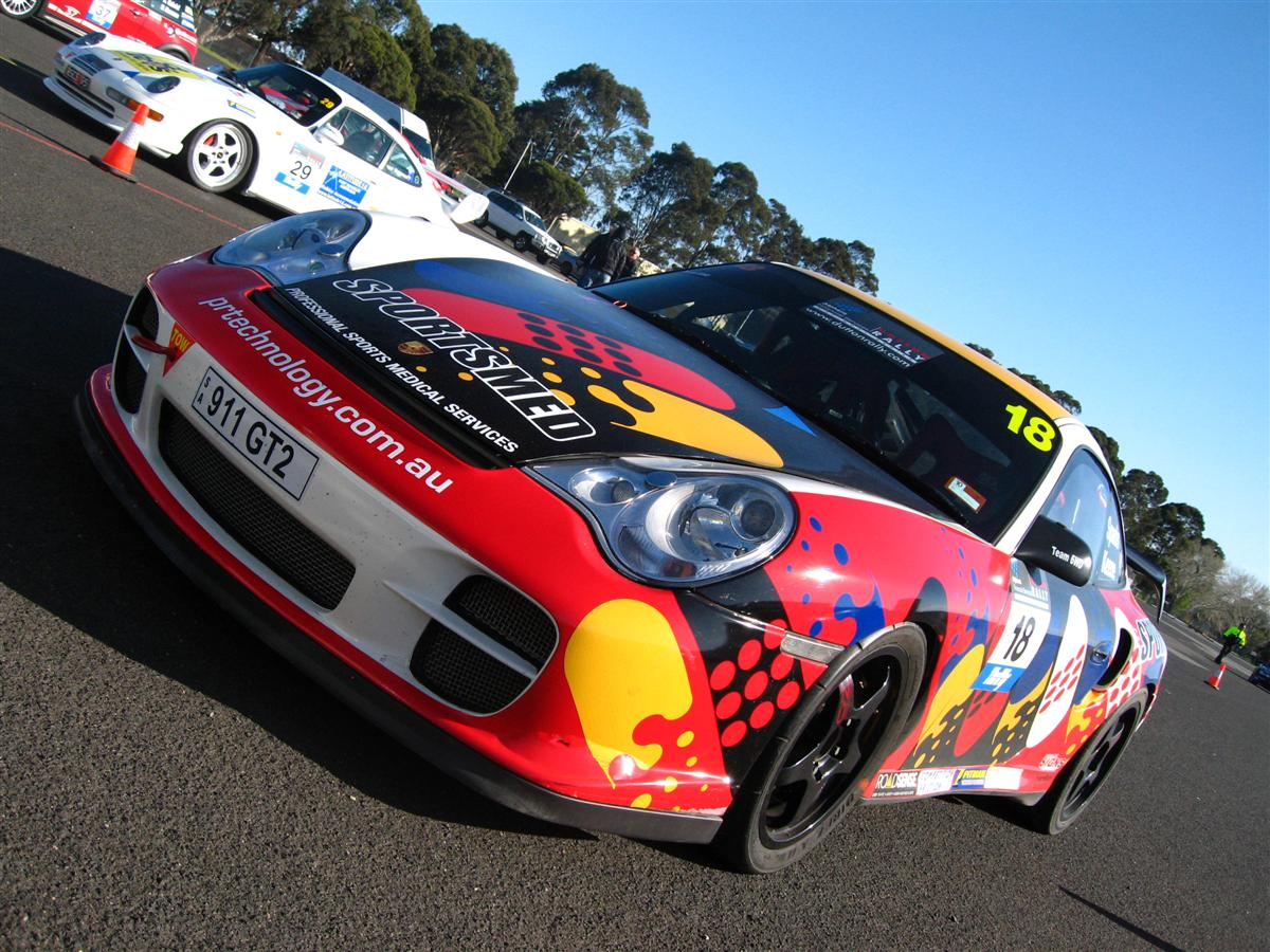 996 Dutton Rally 2007 - Sandown, Victoria: Porsche 996 GT2 - front left