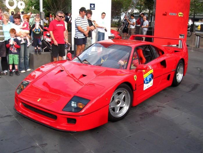 Ferrari F40 - front left (Crown Casino, Melbourne, Australia, 3 March ...