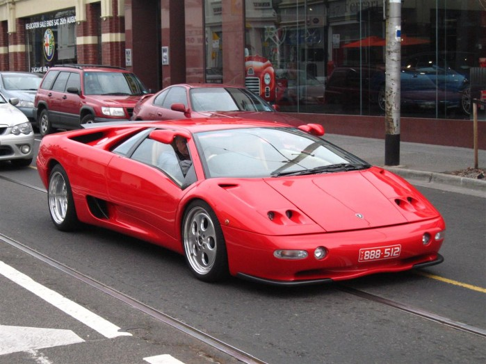 1991 lamborghini diablo - strosek kit - red - for sale / buy