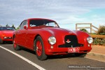Ferraris and Aston Martins in Mornington: Aston Martin DB2 (maroon) - front right 1 (Mornington, Victoria, 14 Jun 09)