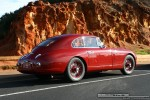 Right   Ferraris and Aston Martins in Mornington: Aston Martin DB2 (maroon) - rear right (Mornington, Victoria, 14 Jun 09)