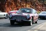 Ferraris and Aston Martins in Mornington: Aston Martin DB6 (maroon) - front left 1 (Mornington, Victoria, 14 Jun 09)