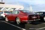 Left   Ferraris and Aston Martins in Mornington: Aston Martin DB6 (maroon) - rear left (Mornington, Victoria, 14 Jun 09)