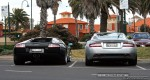 And   Exotic Spotting in Melbourne: Aston Martin DB9 and Lamborghini Murcielago - rear (Port Melbourne, Vic, 20 Sept 08)