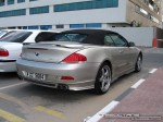 Series   Exotics in Dubai: BMW 6 Series Convertible [Hamann] - rear right (silver)
