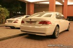 Bmw   Exotics in Dubai: BMW 750Li - rear right (white)