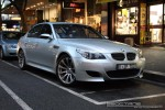 Melbourne   Exotic Spotting in Melbourne: BMW M5 - front right (Melbourne, Vic, 7 Nov 08)