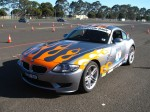 On   Dutton Rally 2007 - Sandown, Victoria: BMW Z4M Coupe - front left (Dutton Rally 07, Sandown, Vic, 2 Sept 07)