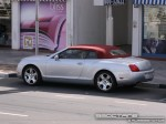 Silver   Exotics in Dubai: Bentley Continental GTC - rear left (silver)