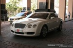GT   Exotics in Dubai: Bentley Continental GT - C front left (white)