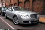 Exotic Spotting in Melbourne: Bentley Continental GT - front right (Southbank, Victoria, 21 July 09)