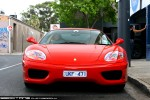 Exotic Spotting in Melbourne: Ferrari 360 Modena (red) - front (South Yarra, Vic, 14 Nov 09)