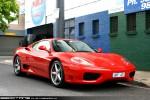 Exotic Spotting in Melbourne: Ferrari 360 Modena (red) - front right 1 (South Yarra, Vic, 14 Nov 09)