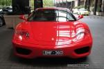 Feb   Exotic Spotting in Melbourne: Ferrari 360 Modena - front (Crown Casino, Vic, 9 Feb 09)
