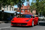 98octane Photos Picnic with the Classics (Carlton, 23 Oct 2010): Ferrari 458 - front left 1 (Lygon St, Carlton, Vic, 23 Oct 2010)