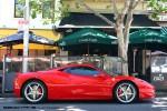 Car   Picnic with the Classics (Carlton, 23 Oct 2010): Ferrari 458 - profile right (Lygon St, Carlton, Vic, 23 Oct 2010)