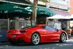 Right   Picnic with the Classics (Carlton, 23 Oct 2010): Ferrari 458 - rear right (Lygon St, Carlton, Vic, 23 Oct 2010)