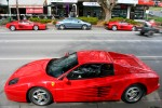 Exotic Spotting in Melbourne: Ferrari 512M and Testarossa - profile (Healesville, Vic, 29 Aug 2010)