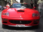 Italy   Exotic Spotting in Europe: Ferrari 575 Maranello - front - Dustball 4000 Rally (Piazza Republica, Florence, Italy, 17-Jun-06)