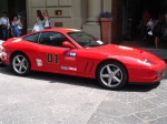 Exotic Spotting in Europe: Ferrari 575 Maranello - right side - Dustball 4000 Rally (Piazza Republica, Florence, Italy, 17-Jun-06)